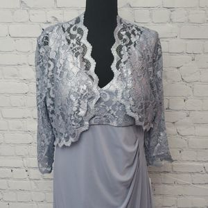 Patra silvery blue occasion dress Size 14